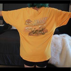 Oversized Harley Davidson Flame Tshirt